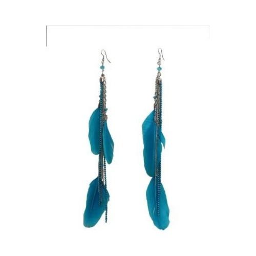 379e6024df9ca Buy Galz4ever Blue Feather Earring Metal Dangle Earring online ...