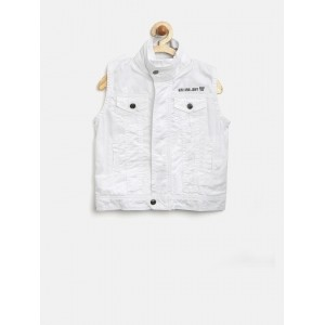 Gini & Jony Boys White Sleeveless Jacket