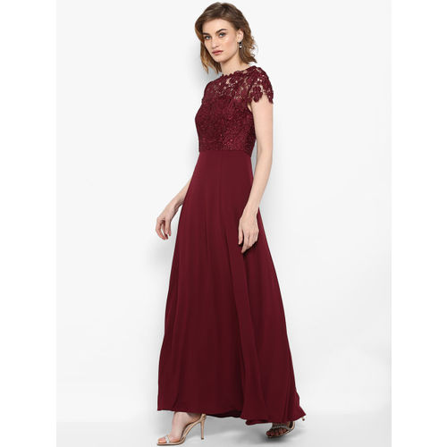 Forever New Women Red Solid Maxi Dress