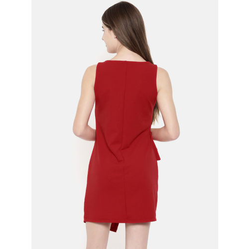 CODE by Lifestyle Women Red Solid Wrap Dress