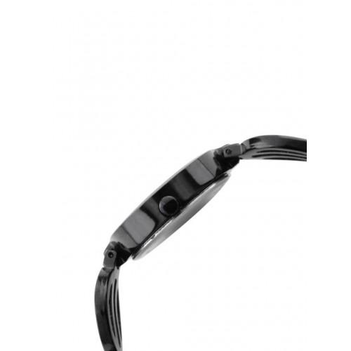 ILINA Women Black & Gold-Toned Dial Watch 3ILP11BPMTFBLK