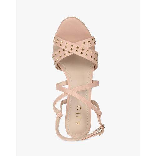 AJIO Embellished Strappy Heeled Shoes