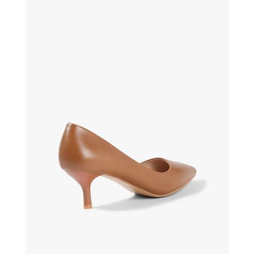 AJIO Pointed-Toe Pumps with Kitten Heels
