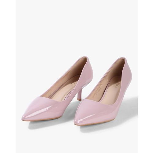 AJIO Pointed-Toe Pumps with Kitten Heels