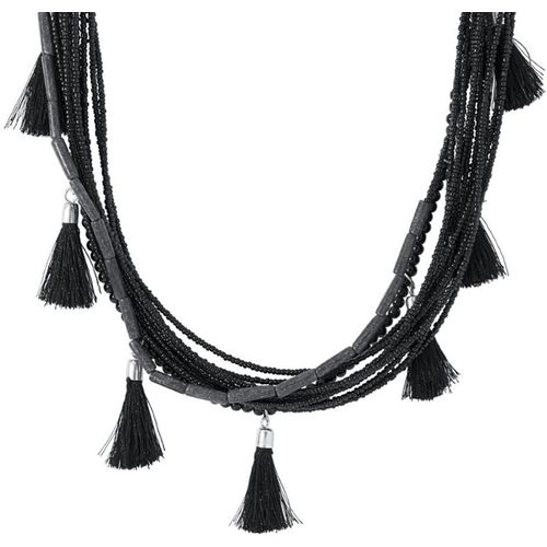 Voylla Artificial Beaded Plain Silver Plated Alloy Necklace