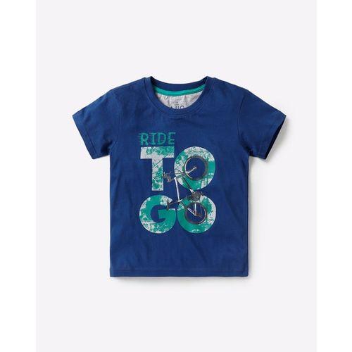 AJIO Typographic Print Round-Neck T-shirt