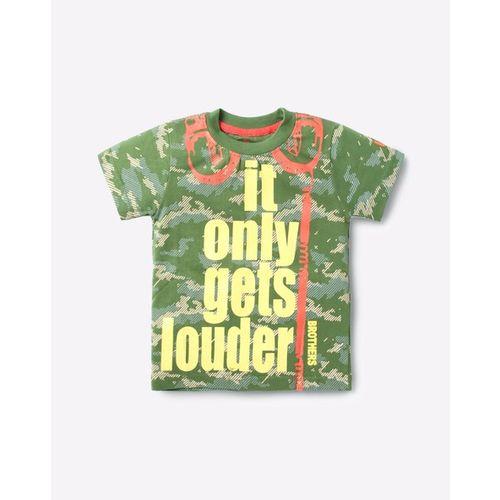 UFO Typographic Print Crew-Neck T-shirt