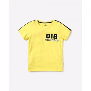 AJIO Numeric Print Crew-Neck T-shirt