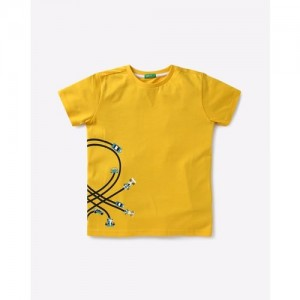 UNITED COLORS OF BENETTON Graphic Print Round-Neck T-shirt