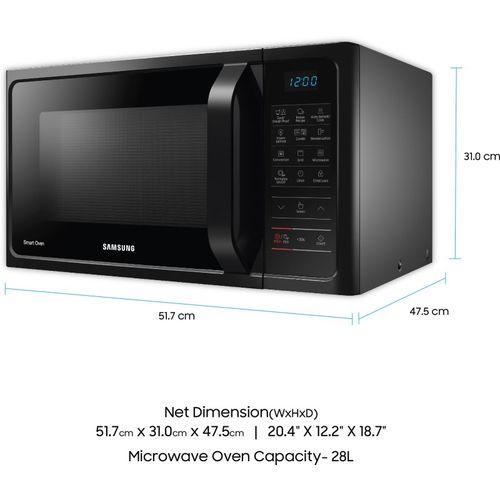 Samsung 28 L Convection Microwave Oven(MC28H5023AK/TL, Black)