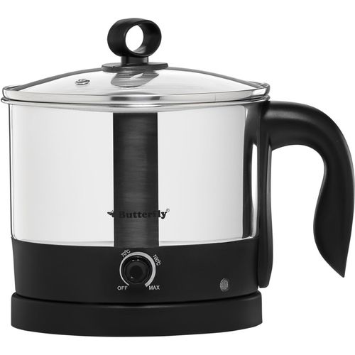 Butterfly Wave Multi Cooker Electric Kettle(1.2 L, Silver with Black)