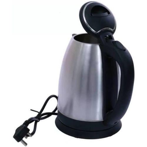 Emmkitz Hot Water Pot Portable Boiler Tea Coffee Warmer Heater Cordless MG-STR Electric Kettle(1.8, Silver)