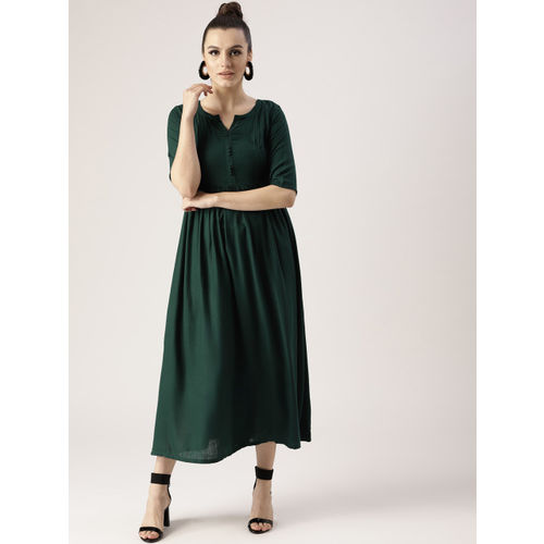 Libas A-line Dark Green Dress