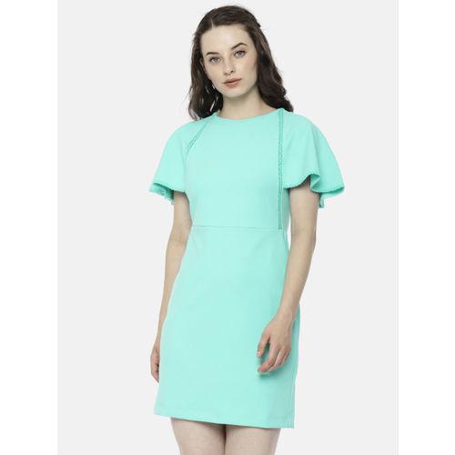 Elle Women Green Solid Sheath Dress