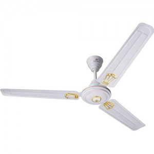 Bajaj New Bahar Deco 1200 mm White 3 Blade Ceiling Fan(WHITE, Pack of 1)