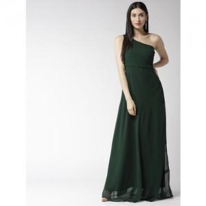 20Dresses Women Green Solid One Shoulder Maxi Dress