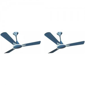 Crompton Avancer Prime Anti Dust Indigo Blue(Pack of 2) 3 Blade Ceiling Fan(indigo blue, Pack of 2)
