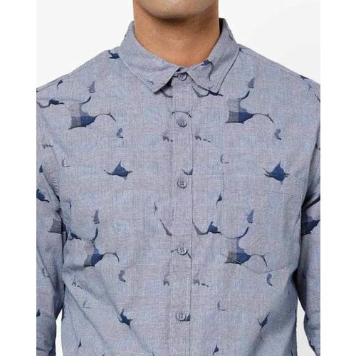 AJIO Slim Fit Printed Shirt