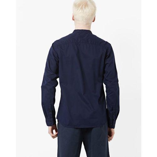 AJIO Slim Fit Shirt with Mandarin Collar