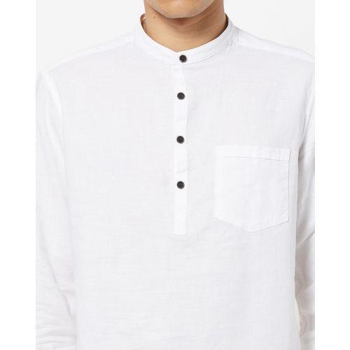 NETPLAY Shirt Kurta with Mandarin Collar