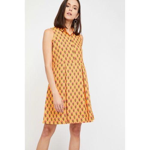 GLOBAL DESI Floral Print Sleeveless Shift Dress