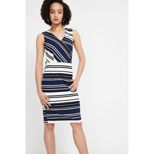 VAN HEUSEN Striped Sleeveless Dress