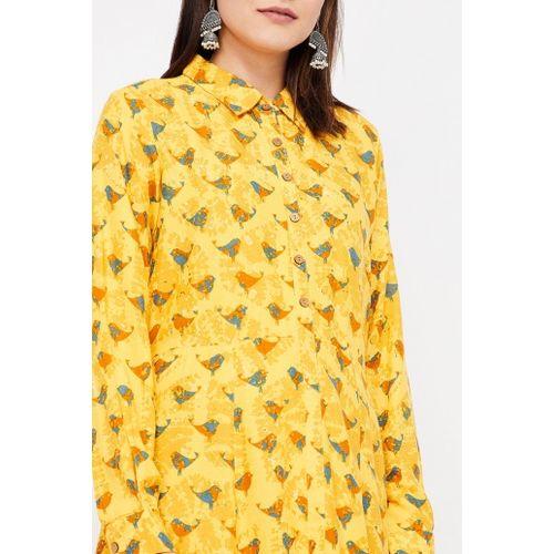 GLOBAL DESI Printed Maxi Dress