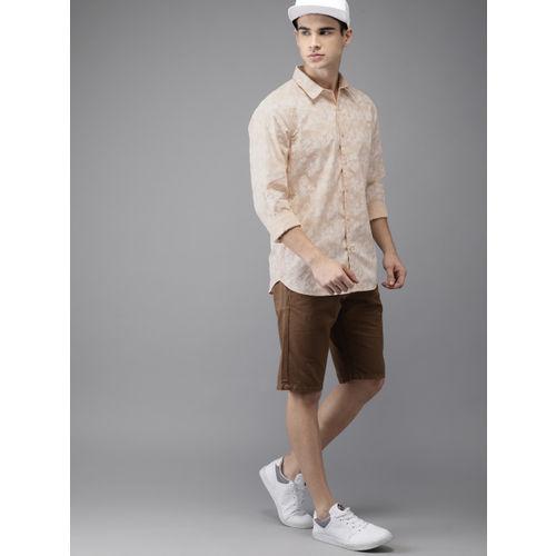 Moda Rapido Men Beige Regular Fit Printed Casual Shirt