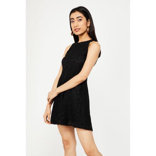GINGER Schiffli Detail Sleeveless Dress
