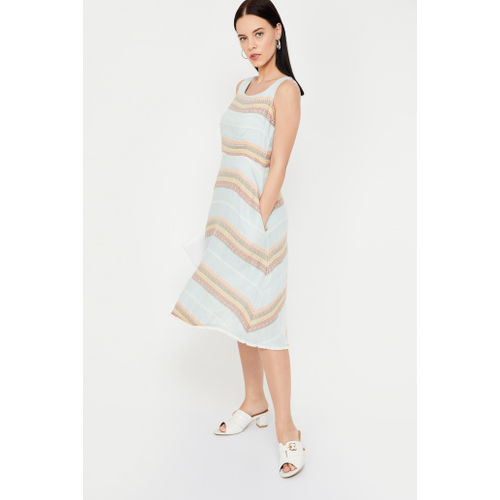 CODE Striped A-line Dress