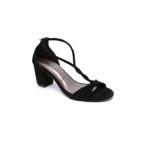 Monrow Women Black Solid Sandals