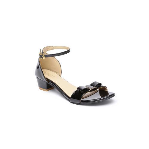 Monrow Women Black Solid Heels