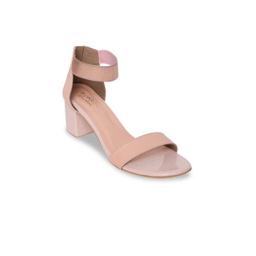 Monrow Women Beige Solid Sandals