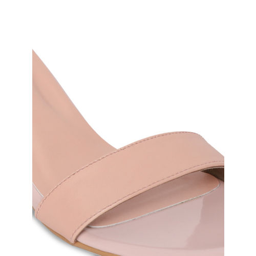 Monrow Women Beige Solid Sandals
