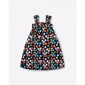 AJIO Strappy Printed A-line Dress
