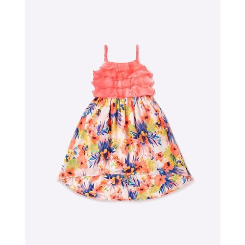 NAUTI NATI Floral Print Flared Strappy Dress