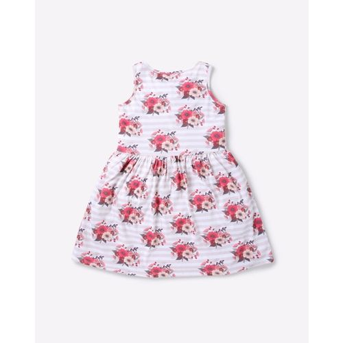 AJIO Floral Print Fit & Flare Dress
