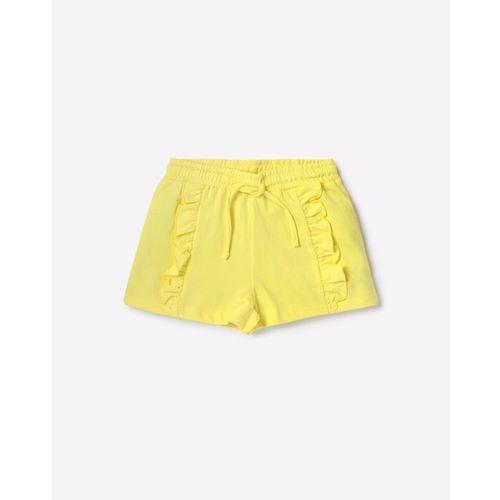 KG FRENDZ Mid-Rise Hot Pants with Ruffled Panels
