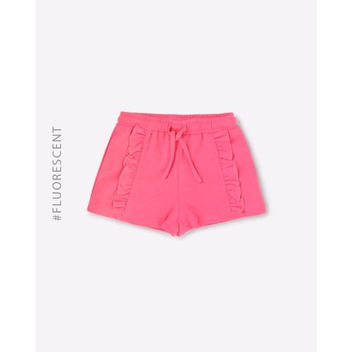 KG FRENDZ Mid-Rise Hot Pants with Ruffled Panels