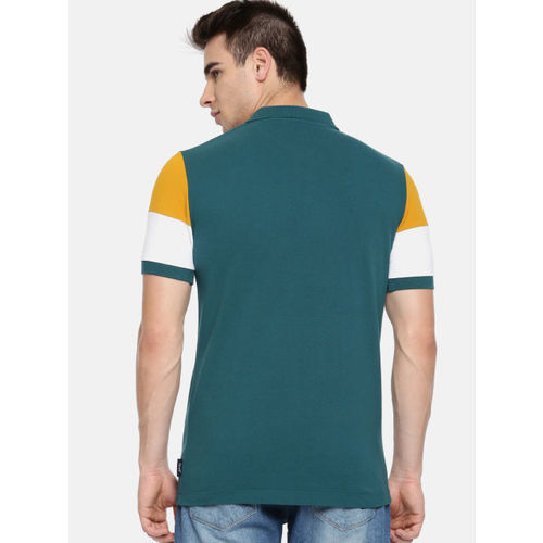 French Connection Green Printed Polo Collar T-Shirt