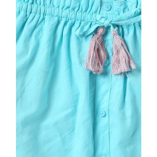 POINT COVE Embellished A-line Skirt with Fringe