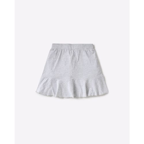 AJIO Placement Print Skirt with Flared Panel