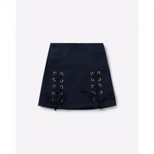 NAUTI NATI A-line Skirt with Lace-Up Panels