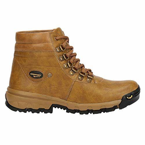 Kraasa Beige Bang Bang Boots For Men