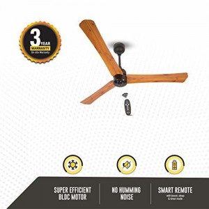 Atomberg Technologies Gorilla Renesa+ Energy Saving 5 Star Rated Ceiling Fan With Remote Control and BLDC Motor,1200mm (Oak Wood)