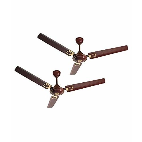 Activa 1200 MM High Speed 390 RPM BEE Approved 5 Star Rated Apsra Deco Ceiling Fan Brown- 2 Year Warranty Pack of 2