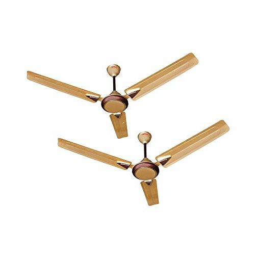 Activa 1200 MM High Speed 390 RPM BEE Approved 5 Star Rated 100% Copper Galaxy-1 Anti Dust Coating Ceiling Fan Golden Beige- 2 Year Warranty Pack of 2