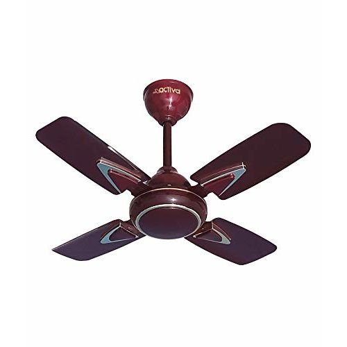 ACTIVA HIGH Speed 850 RPM Galaxy-1 4 Blades (600MM) Deco Ceiling Fan (Brown)-2 Year Warranty