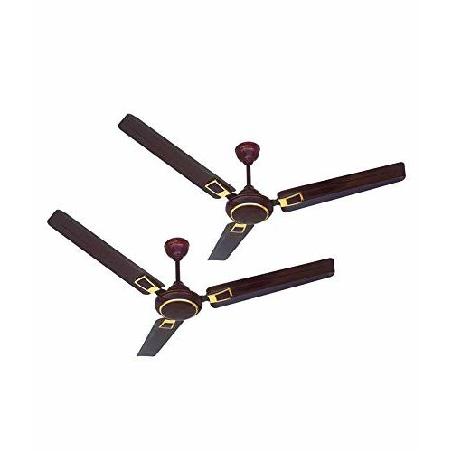 ACTIVA 1200 MM HIGH Speed 390 RPM BEE Approved 5 Star Rated 100% Copper Galaxy Deco Ceiling Fan Brown- 2 Year Warranty Pack of 2