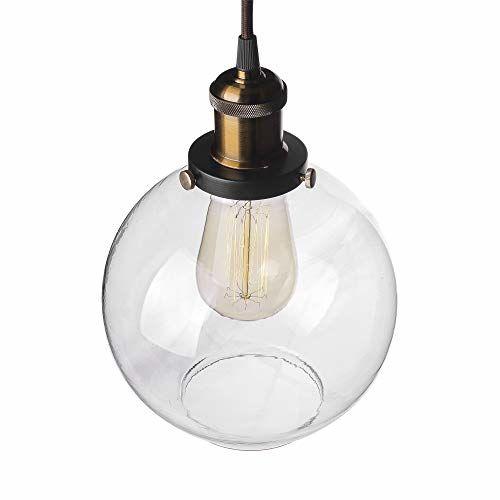 Homesake 3-Lights Linear Cluster Chandelier Modern Glass Globe Hanging Light, E27 Holder, Kitchen Island Ceiling Light Urban Retro, LED/Filament Bulb
